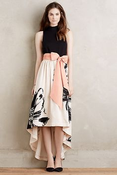 Sumi Mockneck Gown #anthropologie This probably would look ridiculous on me...but I love it. It's fabulous!
