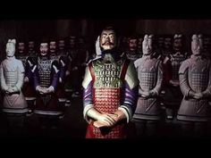 The interactive terracotta warrior at Moesgaard Museum - YouTube