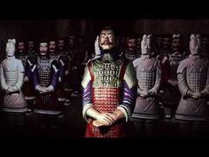 The interactive terracotta warrior at Moesgaard Museum - YouTube