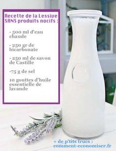 recette lessive maison naturelle bicarbonate et lavande