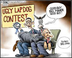 Presumptuous Politics: Liberal Bill Maher Cartoons