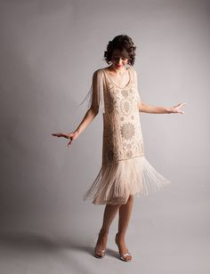 1920s Flapper Dress - Vintage 20s Dress - All That Jazz Dress - by concettascloset