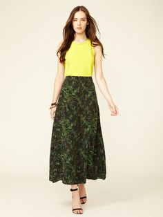 New Vena Silk Maxi Skirt by Rebecca Minkoff on Gilt.com