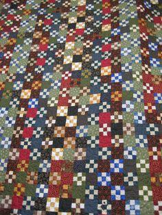 scrappy nine patch quilt, 2007 | Quilts | Pinterest