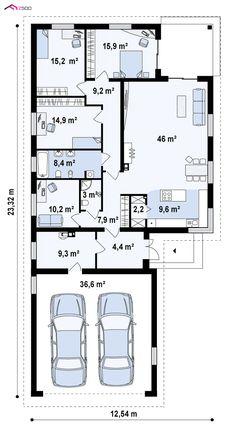 Z195 GF2 to wyjątkowy dom z kategorii projekty domów z większą liczbą pokoi