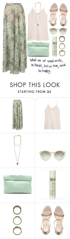 """""""wanderlust ,love and happiness"""" by rosiee22 ❤ liked on Polyvore featuring Topshop, T By Alexander Wang, Givenchy, STELLA McCARTNEY, Marie Turnor, Alöe, Forever 21 and Armani Exchange"""