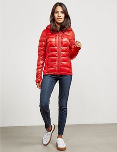 Canada Goose Hybridge Lite Hood Padded Jacket - available at Tessuti, the luxury designer retailer for Men, Women and Children. Down Puffer Coat, Down Parka, Down Coat, Coats For Women, Jackets For Women, Canada Goose Women, Puffy Jacket, Padded Jacket, Black And Grey