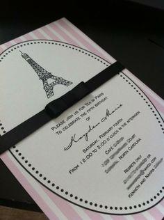 Paris tea party invitation Paris Birthday Parties, Tea Party Birthday, Sweet 16 Birthday, Surprise Birthday, Theme Parties, 15th Birthday, Birthday Ideas, Tea Party Invitations, Invites