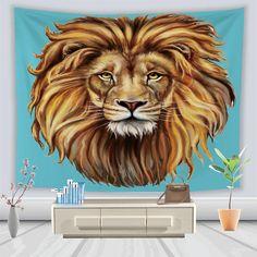 Lion Tapestry Wall Hanging Lion Spirit Animal, Your Spirit Animal, Lion Tapestry, Lion Cakes, Lion Drawing, Beautiful Lion, Tapestry Wall Hanging, Royalty Free Images, Lion Sculpture