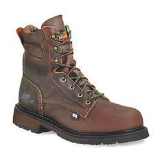 Thorogood American Heritage Classics Men's Steel-Toe Work Boots, Size: 8 Med D, Dark Brown