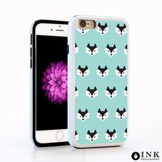Cartoon Fox Animal Cell Phone Case in Baby Blue for iPhone6 / 6plus, iPhone5, Galaxy s4, Galaxy s5, Note 4. Cute Disney Hipster Design