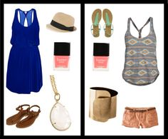 summer style inspired by my nail color!, created by kallie-beckman on Polyvore