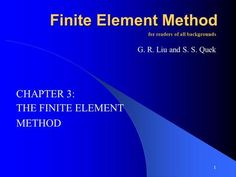 THE FINITE ELEMENT METHOD> Finite Element Method, Degrees Of Freedom, Vector Can, Control Unit, The Unit