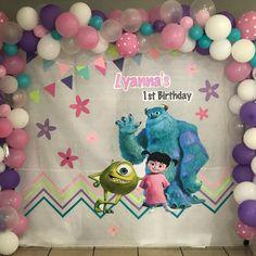 Monster Inc Boo Party Monster 1st Birthdays, Monster Inc Party, Monster Birthday Parties, 2nd Birthday Parties, First Birthdays, Birthday Party Invitations, Monsters Inc Girl, Monsters Inc Centerpieces, Monsters Inc Invitations