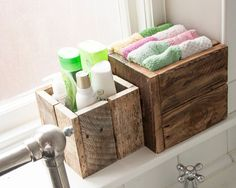 Rustic Wooden Box Bundle Gift Idea Bathroom von PalletablesUK