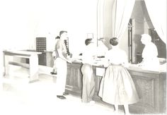 1950s Circulation Desk at Rodgers Library, New Mexico Highlands University