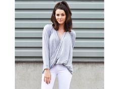cross over shirt grey