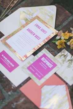 wedding invitations with a metallic twist, photo by Two Foxes Photography,