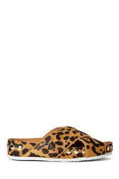 Jeffrey Campbell Menorca Studded Sandals - Leopard
