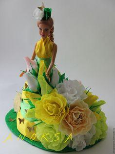 Купить девочка Весна - ярко-зелёный, девочка-весна, кукла с конфетами, сладкая кукла