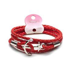 Trendy Anchor Leather Bracelet - Multiple Colours