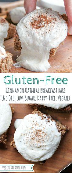 Oatmeal Breakfast Bars {Cinnamon, Gluten-Free}