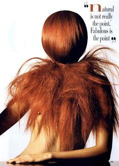 >>> Getting Great Hair, Photographer: Irving Penn Sittings Editor: Phyllis Posnick, Hair: Orlando Pita for Bumble | US Vogue July 1995