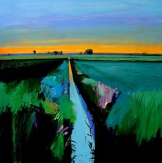 Dawn on Long Drove, July 2018 - Fred Ingrams Abstract Landscape Painting, Landscape Art, Landscape Paintings, Contemporary Landscape, Contemporary Artists, Landscaping Near Me, Garden Landscaping, Luxury Landscaping, Landscaping Company