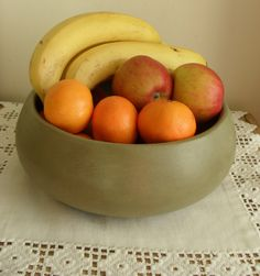 Large Wooden FRUIT BOWL Hand Painted VERSAILLES Chalk Paint/Waxed/Aged Satin Finish Display Bowl Shabby Chic Cottage Decor Storage Bowl by BigGirlSmallWorld on Etsy