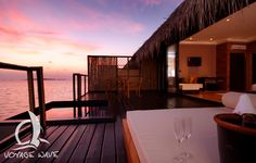 Adaaran Prestige Vadoo resort, Maldives - enjoy the sea view from your private terrace with swimming pool