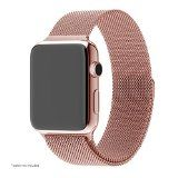 Apple Watch Band, Pandawell™ Milanese Loop Rose Gold Stainless Steel Replacement Watchband Strap Wrist Band with Adapter for 38mm Apple Watch & Sport & Edition (38mm-Rose Gold) - http://kemsat.com/shop/product/apple-watch-band-pandawell-milanese-loop-rose-gold-stainless-steel-replacement-watchband-strap-wrist-band-with-adapter-for-38mm-apple-watch-sport-edition-38mm-rose-gold/