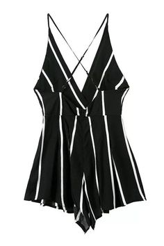Cheap Stripe Backless Halter Sexy Braces One Piece Romper&Jumpsuit For Big Sale!Stripe Backless Halter Sexy Braces One Piece Romper&Jumpsuit Rompers Women, Women's Rompers, Summer Romper, Types Of Fashion Styles, Teen Fashion, One Piece, Clothes, Outfits, Backless
