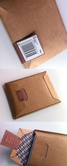 stitched manila cardboard envelope with branded tuck-in piece