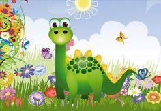 Papier peint enfant Dinosaure