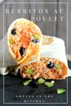 Burritos au poulet #recettefacile #burrito #poulet