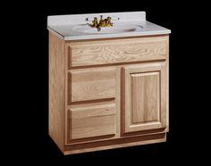 Vanities d and drawers on pinterest for Unfinished bathroom vanities menards
