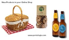 New portuguese products: craft beers and traditional biscuits. www.portulogia.com #beer #cookies #biscuits #Portulogia #Portugal