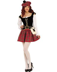 Check out Highland Hottie Lass Costume - Cheap International Costumes for Women from Costume Discounters Dress Up Costumes, Girl Costumes, Adult Costumes, Halloween Costumes, Halloween 2018, Cosplay Costumes, Halloween Party, Partner Costumes, Scottish Costume