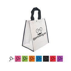 683915e3c Bolsas ecológicas personalizadas con base anchas para la compra color  blancas