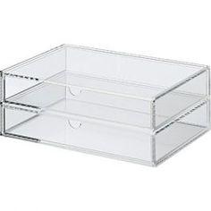 **Acrylic Case 2 Drawers - Large