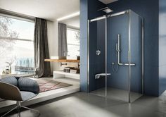 Soft, la gamma di cabine doccia firmate Provex, design caratterizzato dalle grandi trasparenze dei vetri e dai riflessi delle cromature