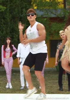 Kim jong kook running man gif - laughed so hard at this