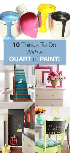 We all have that extra little bit of paint lying around the house...use that paint as an opportunity to beautify your home again with these fun DIY ideas!