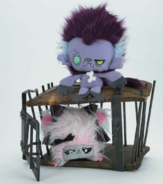 Feraline the Werewolf Baby and Vanzomkey the Vampire Monkey who was bitten by a zombie. #Vamplets #Plush