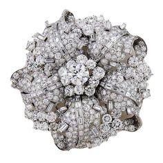Bulgari Diamond Platinum Brooch | 1stdibs.com                                                                                                                                                                                 More
