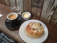 Wellington Coffee, home of the bacon and cheese scone! :-)