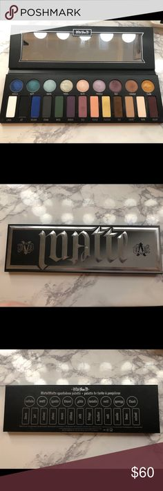 Kat Von D Metal Matte Eyeshadow Palette (no box) Has been swatched! Used maybe twice. Was limited edition. Kat Von D Makeup Eyeshadow