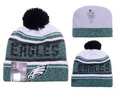 Men s   Women s Philadelphia Eagles New Era 2016 NFL Snow Dayz Knit Pom Pom  Beanie Hat - White   Green   Black 802c076b2825