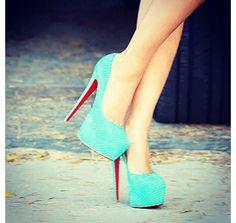 Tiffany Blue Heels