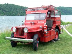 Claytor Lake Jeep Willys Fire Truck - General Electric